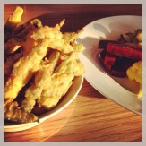 (Left) Fried Okra With Comeback Sauce at Pasture Charlottesville.